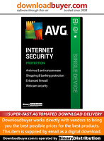 AVG Internet Security 2020 - 5 PC - 1 Year [Download]
