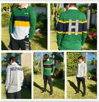 NWT Men's Tommy Hilfiger Long-Sleeve Rugby Polo Shirt Multi