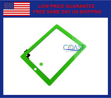 IPAD 2 COMPLETE FRONT PANEL TOUCHSCREEN DIGITIZER WITH HOME BUTTON - GREEN