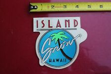 Island Snow Clear Neon Blue Surfboards Hawaii Rare V16a Vintage Surfing Sticker