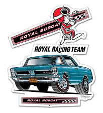 Royal Racing Team Pontiac GTO Hot Rod plasma cut retro sign chapa escudo Escudo