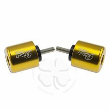 Gold Bar Ends Yamaha YZF R6 600 Handle Bar Sliders 06 07 08 09 10 11 12 13 14