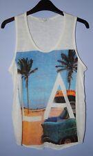 Vivi London LA California Beach Scene Summer/ Sun Vest Top size S/M (10/12)