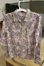 GAP Ladies / Girls Shirt with buttons Purple flowers Blouse Top Size XXL - 14-16