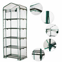 Portable Walk In Greenhouse Shelves PVC Cover Plant Garden Green House Keep Warm