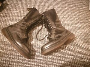 Vintage Nineties Dr Martens Knee Boots Size 4 Uk Good Conditon Made in England