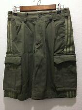 "Rare ADIDAS ORIGINALS Muhammad Ali Cargo Shorts Olive Green Shorts 30"""
