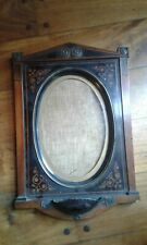 U19th century marqueterie frame wood and metal. Beautiful