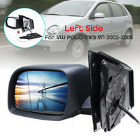 Car Door Heated Electric Wing Mirror Glass Left Side Fit VW Polo MK5 9N 2002-05