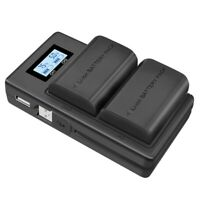 Lp-E6 Battery Charger Lcd Dual Charger For Eos 5Ds R 5D Mark Ii 5D Mark Iii M5L