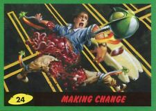 Mars Attacks The Revenge Green Base Card #24 Making Change