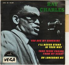 """RAY CHARLES """"YOU ARE MY SUNSHINE"""" SOUL FRENCH 60'S EP  VEGA 90.909"""
