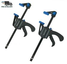 2 x 150mm Mini Rachet Quick Grip Clamps Mini Woodwork Speed Bar Clamps Craft DIY