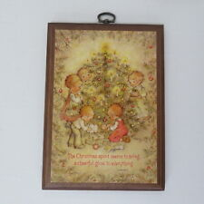 "Retro ""Betsey Clark"" Christmas Tree, Wood Wall Plaque, Hallmark"