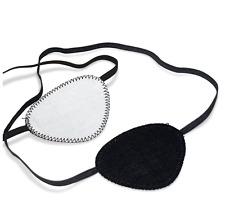Augenklappe / Augenschutz schwarz/weiß mit Gummiband