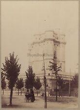 Vincennes Le Donjon Poussette ancienne France Vintage albumine ca 1895