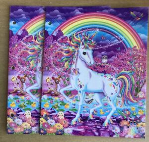 2 Pack Lisa Frank Folders Unicorn Rainbow mischief