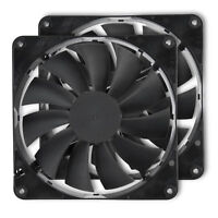 Rosewill (2Pack) 140mm 12V Computer Case Cooling Fans w/ LP4 Adapter RFBF-131411