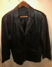 Jos. A. Bank Soft Leather Jacket Coat Black or Brown Large