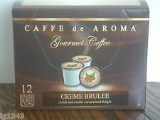 Lenier's Creme Brulee 12 Single Serve K-Cups Free Shipping OK for 2.0