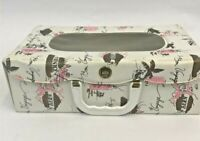 Vintage Doll Case White Vinyl Bon Voyage Travel Suitcase Carrier Baby Clothes