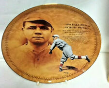 Ruth's Pitching Debut Glass Baseball Collector Plate Babe Ruth Centennial   S74