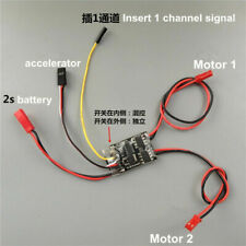 New 1.8Ax2 Dual Two-way Brushed Esc Speed Controller for 35:1 Trolley Small Tank