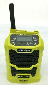 RYOBI P742 18 VOLT LITHIUM PORTABLE RADIO AM/FM MP3 USB AUX BLUETOOTH, N