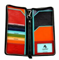 Visconti SP28 Multi Colored Soft Leather Purse Card ID Travel Wallet Gift Boxed