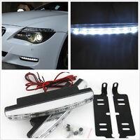 2*8LED White 12V Car Daytime DRL Running Lamp Foggy Day Driving Lights For Honda