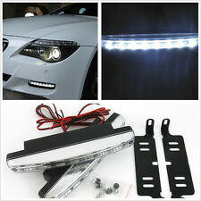 2*8LED White 12V Car Daytime DRL Running Lamp Foggy Day Driving Lights For Honda