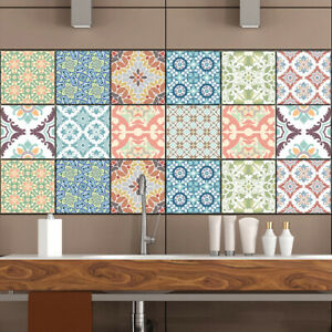 10x Peel and Stick Tiles Sticker Kitchen Bathroom Self-Adhesive Wall Tile Decals