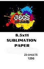 New Listing25sheets 85x11 Dye Sublimation Paper Heat Press Transfer Paper Print T Shirt
