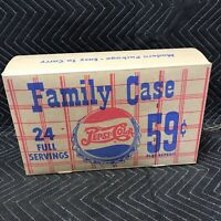 Vintage Pepsi Cola Double Dot Cardboard Family Case New Old Stock NOS