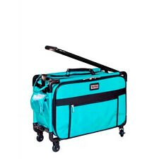 Tutto Turquoise 20 Inch Sewing Embroidery Machine Trolley Case On Wheels New
