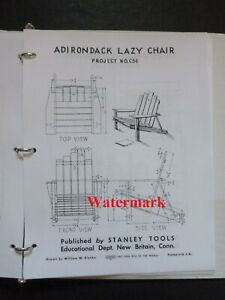 Vtg Stanley Woodworking Indoor/Outdoor Project Plans COMPLETE SET of 95 w/Binder