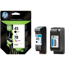 GENUINE 2014 DATE HP 78 COLOUR + 45 BLACK CARTRIDGES 2 YR GUARANTEE FAST POSTAGE