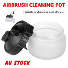 2PCS Airbrush Cleaning Pot Paint Jar Air Brush Cleaner Holder Glass Bottle 304ml