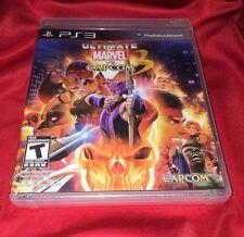 RARE NEW 2 Manuals! Ultimate Marvel VS Capcom 3 UMVC 3 UMVC3 PS3 PlayStation 3