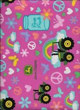 New John Deere Farm Fresh on Pink 100% cotton fabric by the half yard