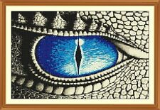 Dragon Eye cross stitch chart 7.6 x 12.0 in (ca. 30.48 cm)