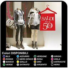 Adesivi per vetrine negozi - Saldi con gruccia - Misure 60x84 cm