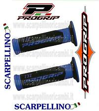 COPPIA MANOPOLE PROGRIP 732 BLU DIAMETRO INT. 22 - 25 LUNG. 125 mm -GRIP- 431058