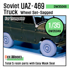 DEF.MODEL, Soviet UAZ-469 Sagged Wheel set (for Trumpeter), DW35048