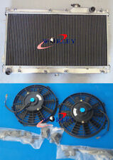 For 90-97 MAZDA MIATA MX5 1.6L 1.8L 91 92 93 94 95 Manual Aluminum Radiator+FANS
