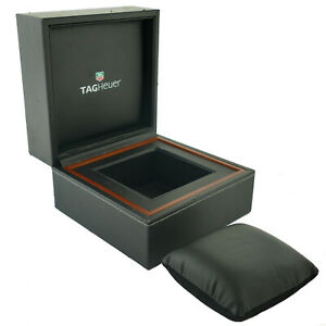TAG HEUER BLACK WATCH BOX WITH BLACK SUEDE PILLOW