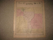 ANTIQUE 1877 ST CHARLES TOWNSHIP & CITY SAGINAW COUNTY MICHIGAN HANDCOLORED MAP