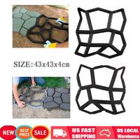 Plastic Pathmate Stone Paving Mold Concrete Stepping Walk Way Mould Paver 9 Grid
