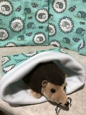 Aqua Hedgehogs Cotton- snuggle sack- small Bonding Bag - Hedgehog -guinea Pig