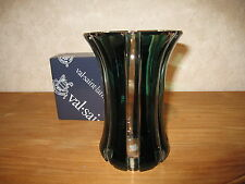 VAL SAINT LAMBERT *NEW* Vase vert H.17,5cm